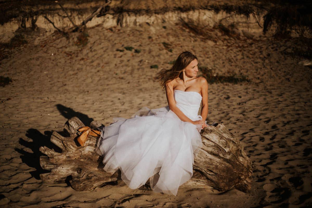zdjęcia ślubne na nad morzem