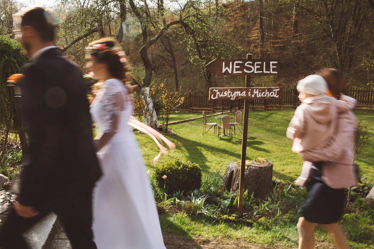 Jślub w młynie nad regą