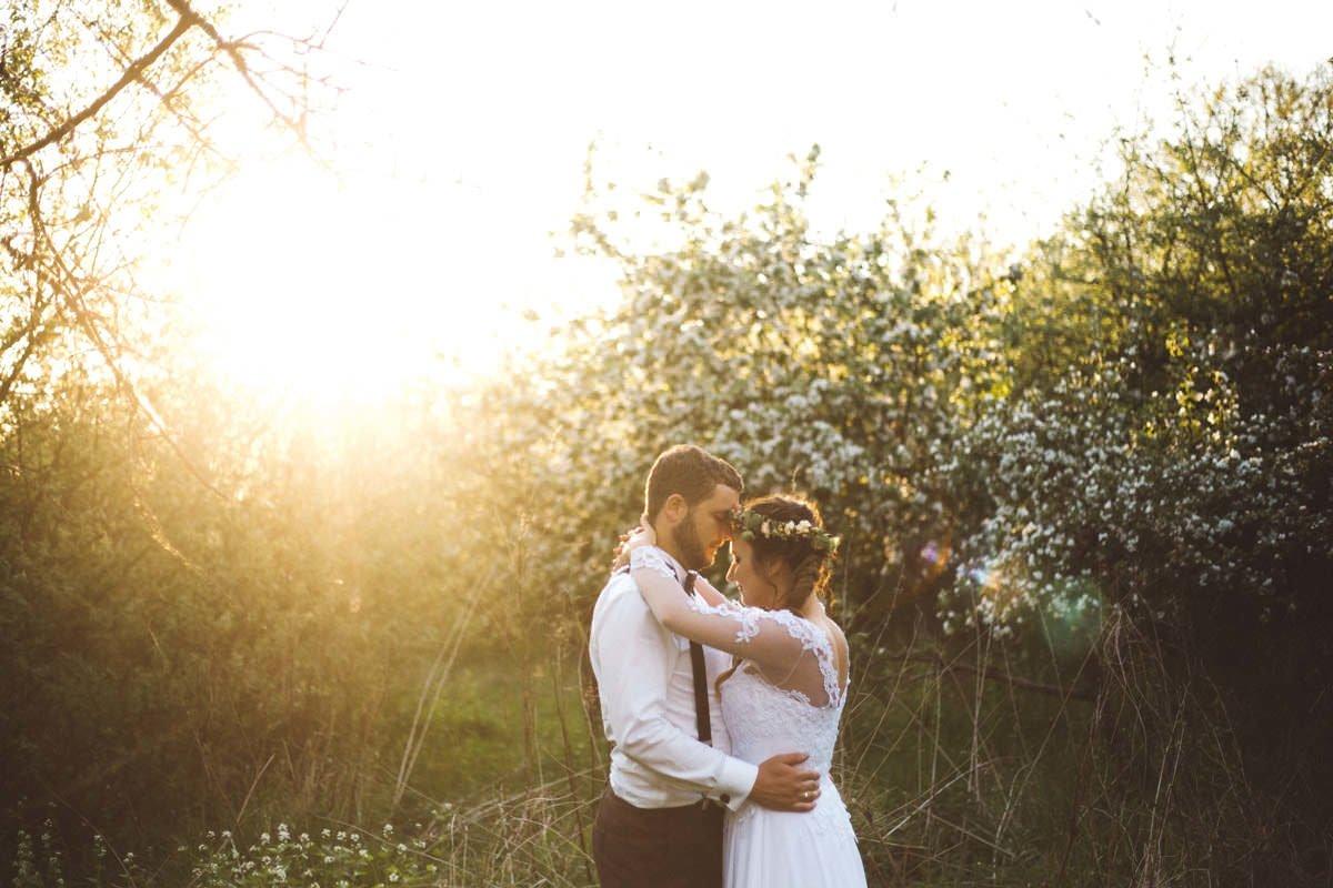 sesja ślubna w naturze